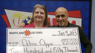 Owings Mills couple wins the lottery of love and a real lottery, too