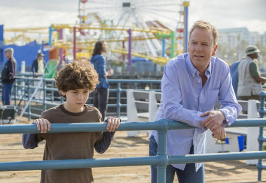 Midseason TV 2013: What to expect when your favorite shows return: Returns 8 p.m., Friday, Feb. 8  The action shifts to Los Angeles, where Martin (Kiefer Sutherland) and gifted son, Jake (David Mazouz), encounter Lucy (Maria Bello) and her equally gifted daughter, Amelia (Saxon Sharbino), and attempt to uncover a global conspiracy.