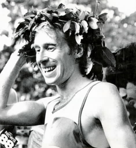 Bill Rodgers won both the Boston Marathon and the New York City Marathon four times each in the '70s. He won Boston in 1975, 1978, 1979 and 1980. He won four New York City Marathons in a row from 1976-1979.  Rodgers competed in the Montreal Olympics in 1976. Rodgers got a  sociology degree from Wesleyan in 1970.