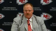 "<span style=""font-size: small;""> Andy Reid has been introduced as the new coach of the Kansas City Chiefs, one week after he was fired following 14 seasons with the Philadelphia Eagles.</span>"