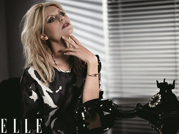 It's a very noir look for Claire Danes in Elle.