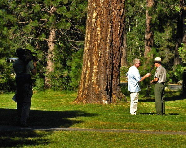 Huell Howser interviews Yosemite National Park's Scott Gediman.