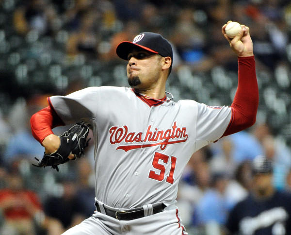 The former Nationals lefty reliever signed a $2.25 million, one-year deal with the Milwaukee Brewers.