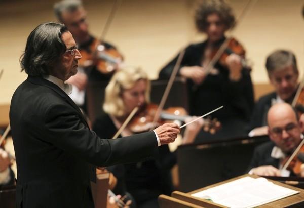 Chicago Symphony Orchestra director Riccardo Muti.