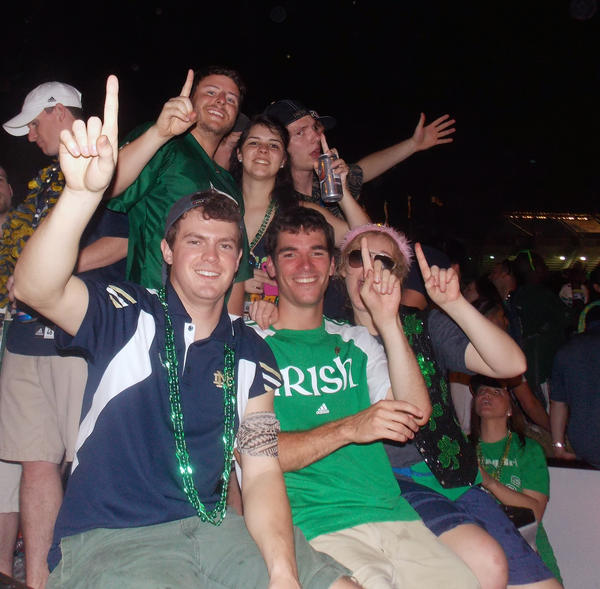 The Fighting Irish and rivals Crimson Tide arrived early before the big BCS National title game held Monday night at Sun Life Stadium.