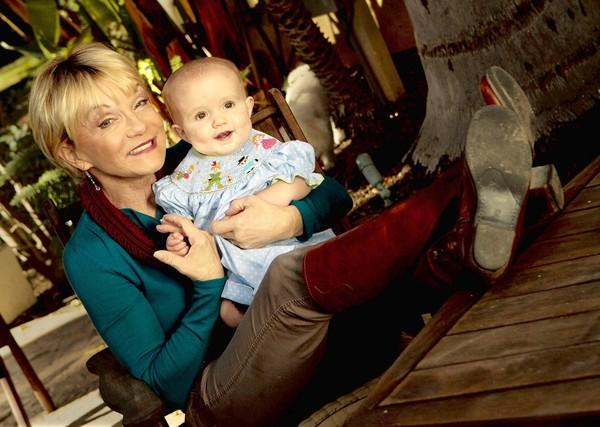 Cathy Rigby with her youngest grandchild, Delilah, 11 months.