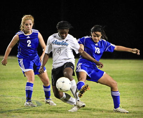 Ru Mucherera, shown here in last year's Class 5A state semifinal game against Apopka, recorded two goals and two assists for Hagerty in 5-0 win over Apopka on Monday. (Joshua C. Cruey/Orlando Sentinel)