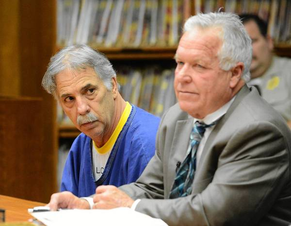 Michael Lubahn Clark, left, in court with defense attorney Kevin Donahue, was sentenced to 15 years to life in prison for the 1981 slaying of his wife, Carol Jeanne Meyer Lubahn. Clark has volunteered to accompany divers to the patch of ocean where he says he sank his wife's body.