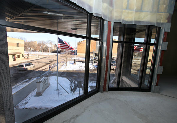 This view of the entrance to the Aberdeen Public Safety Building is from the second floor overlooking the entrance. Some Brown County commissioners would like to move some operations currently housed at the Brown County Jail to the vacant second floor of the Public Safety Building.