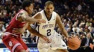 "<span style=""font-size: small;"">STATE COLLEGE, Pa. (AP) — The 7-foot center raced out to midcourt to trap D.J. Newbill, typically not the best defensive matchup against Penn State's quick guard.</span>"