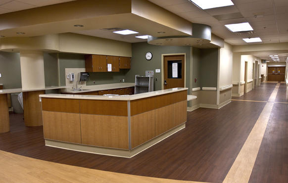 The Pre-Op station for staff area.  Riverside Regional Medical Center will be opening their new Pavilion complex at the end of the month.
