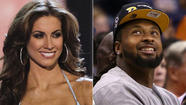 Beauty queen Katherine Webb was introduced to the nation during Monday night's broadcast of the BCS championship game.