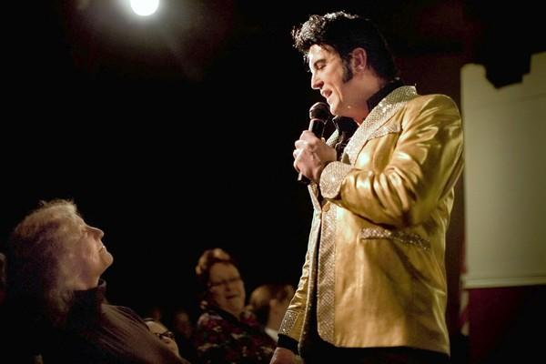 Elvis impersonator Jed Duvall serenades the crowd at a previous Laurel Mill Playhouse performance.
