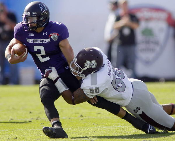 He's more than a running back (996 yards rushing in 2012), more than a quarterback (872 passing). Wherever the Wildcats need him, that's where he'll be. And he's got one more year in Evanston.--Chris Sosa