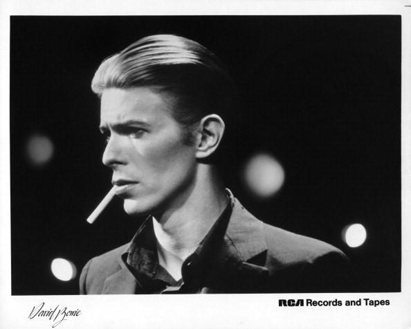 David Bowie poses for an RCA publicity shot in 1976.