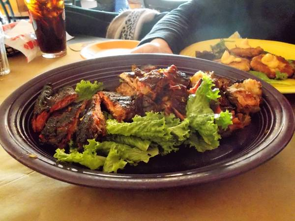 The burnt ends appetizer at Smokin' With Chris in Southington.