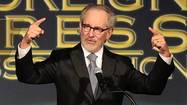 Spielberg speaks at The Hollywood Foreign Press Association's annual luncheon
