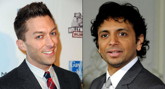 Chad Hodge and M. Night Shyamalan