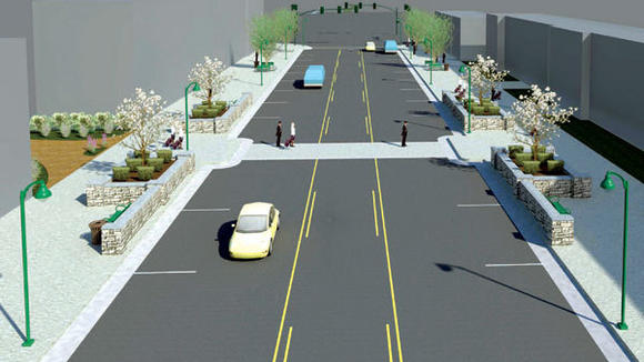 A downtown streetscape project to reduce the number of traffic lanes in order to make it more pedestrian friendly will surely be a topic of further review and possible action.