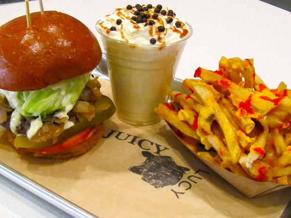 Juicy Lucy burger joint is open at downtown's Figat7th shopping center.