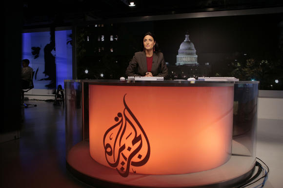 The Al Jazeera English anchor desk