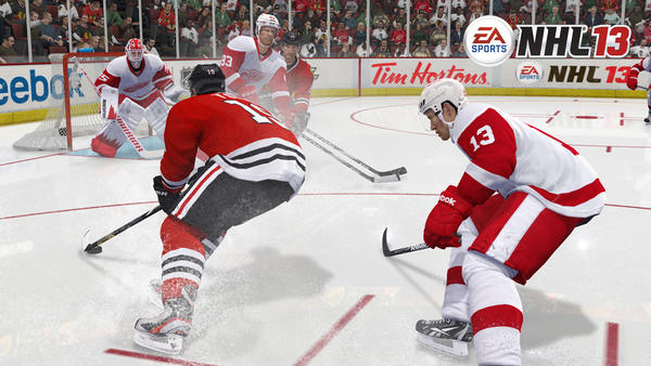 The 2012-13 virtual Blackhawks needed seven games to oust Detroit from the playoffs.