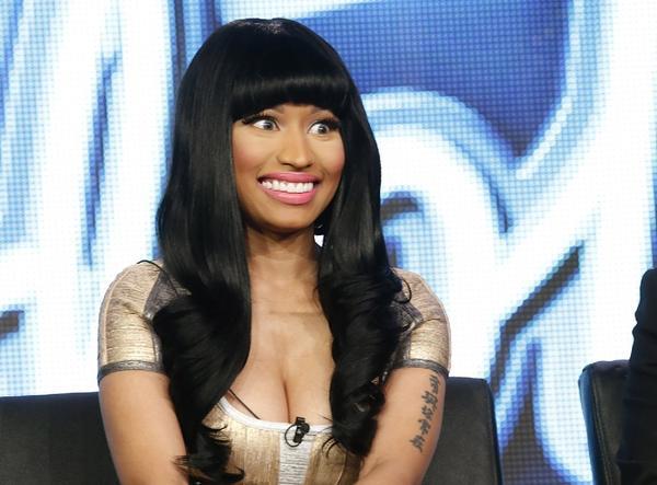 "Nicki Minaj from ""American Idol"" attends the TCA Tour in Pasadena, Calif., on Jan. 8, 2013."