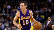 Steve Nash recorded his 10,000th assist of his career on Tuesday night as the Lakers battled the Rockets in Houston.