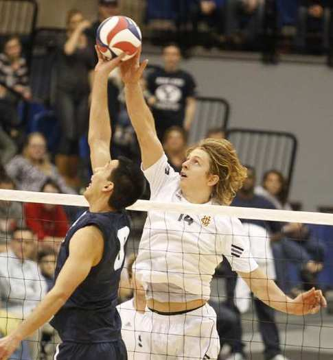 UC Irvine's Jeremy Dejno, right, was named National Player of the Week by the AVCA.