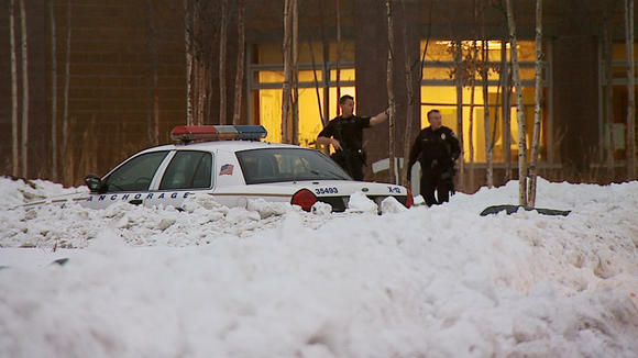 Anchorage police responded in force Tuesday morning to Dimond High School.