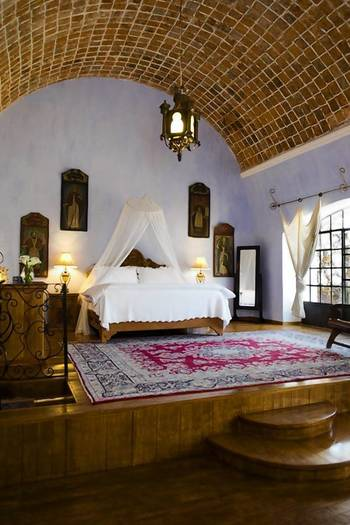 The Hidalgo Suite of the Hacienda Las Trancas in central Mexico
