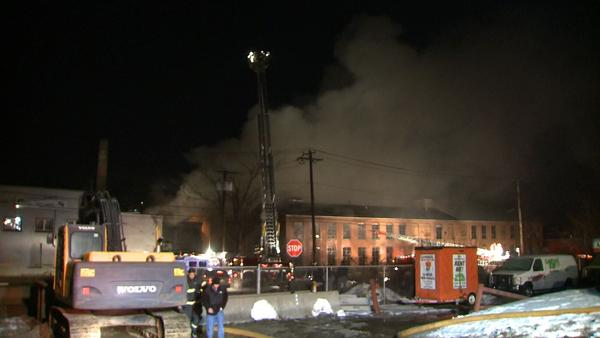 A fire appeared to have started in an abandoned building then spread to the Better Packaging building in Shelton.
