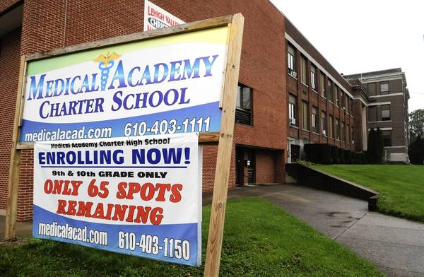 The Catasauqua Area School Board said Tuesday night it might move to revoke the Medical Academy Charter School's charter in 30 days if the school doesn't prove it's offering what it promised.