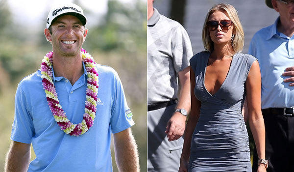 Dustin Johnson and Paulina Gretzky were spotted together throughout the PGA Tournament of Champions, which Johnson won.
