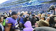 The last home game for Ray Lewis Sunday did monster numbers locally, but wound up finishing third for the week nationally among all telecasts with an audience of 29.6 million.