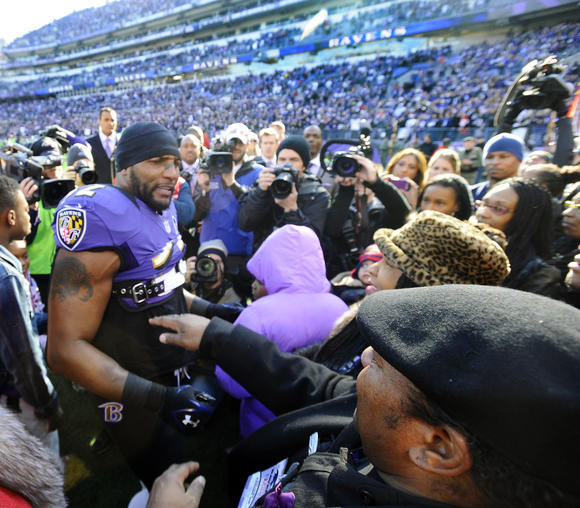 Ray Lewis before Colts game