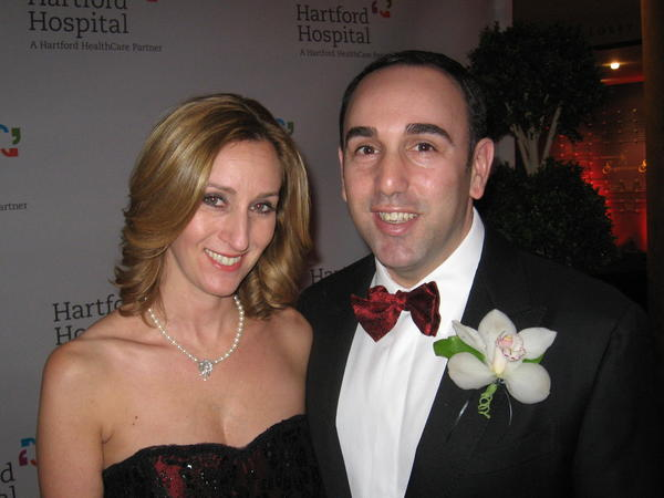 Hartford hospital president Jeff Flaks and his wife, Lori, at Hartford Hospital's annual Black & Red Gala at the Bushnell.