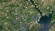 2012 Harford County fatalities [Map]