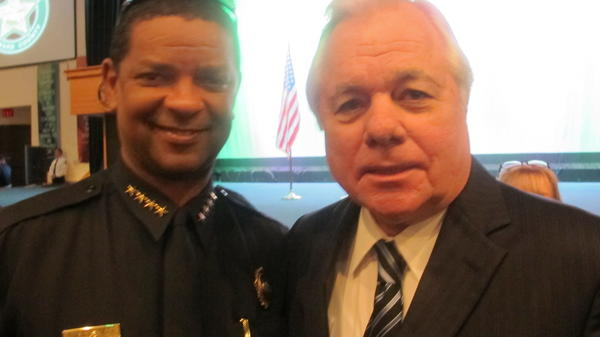 Fort Lauderdale Chief Frank Adderley and former BSO Sheriff Bob Butterworth