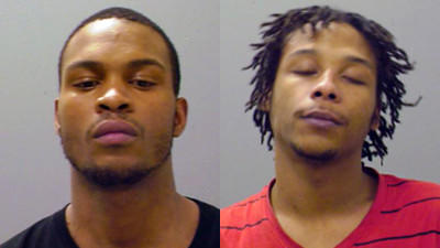Akeem Clarke, 22, left, and Martel Odum, 23, were each charged with murder along with robbery and vehicular hijacking.