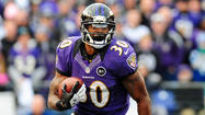 The Ravens released their first injury report of the week leading up to Saturday's AFC Divisional playoff game against the Denver Broncos, and Bernard Pierce did not practice Wednesday. The rookie running back, who is described as dealing with a knee injury, did not appear to participate in Tuesday's session.