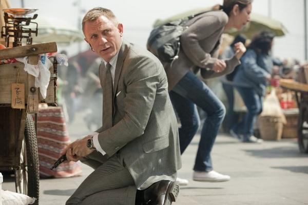 "Daniel Craig stars as James Bond in ""Skyfall."""