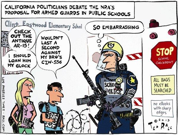 What armed guards in our schools might look like