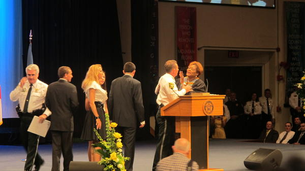 Judge Ilona Holmes swears in Sheriff Scott Israel