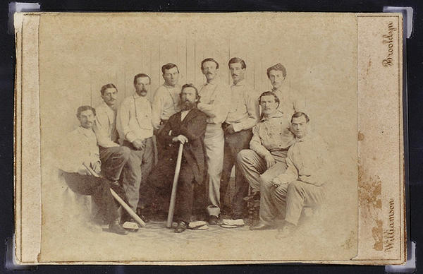 A rare 1865 baseball card could fetch six figures on the auction block.