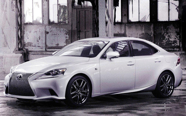 Lexus unveiled the first official photos of the 2014 IS sedan. Shown here with the optional, more aggressive F-Sport package, the IS will make its official world debut at the 2013 Detroit Auto Show on Tuesday.