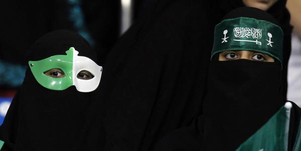 Saudi Arabia's fans are pictured before the team's Gulf Cup tournament soccer match against Yemen in Isa Town January 9, 2013.
