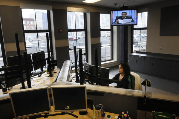 The dispatch center is located on the main level of a new building at the Hartford Public Safety Complex and houses the 311 and 911 call centers.