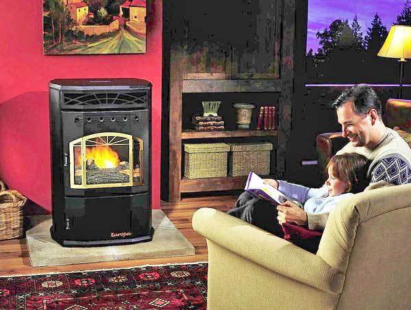A house that's properly energy-efficient is going to be easy to bring up to a comfortable condition with a pellet stove