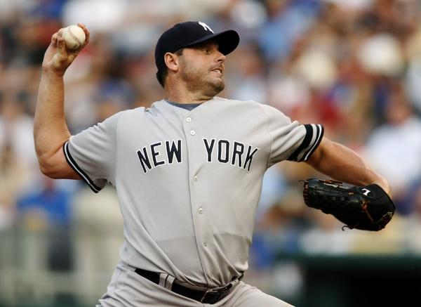 Roger Clemens pitched for the Yankees for six seasons.